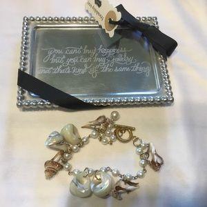 BOGO Mudpie Friendship Tray + Seashell Bracelet